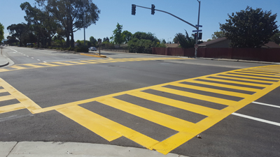 Alvarado Blvd crosswalk